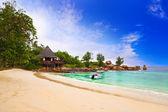 Cafe on tropical beach — Stock Photo