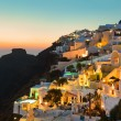 Santorini sunset - Greece — Stock Photo
