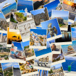 Stack of Greece travel photos — Stock Photo