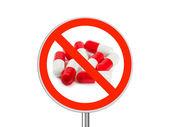 Sign No pills — Stock Photo
