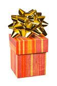подарок и лук — Стоковое фото