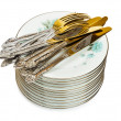 Stack of dishware — Stock Photo