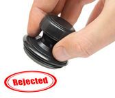 Hand and rubber stamp Rejected — Stock Photo