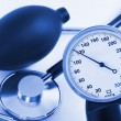 Scale of pressure and stethoscope — Stock Photo