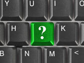 Computer keyboard with question key — Stock Photo