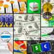 Collage of business images — Stock Photo