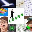 Collage of education images — Stock Photo