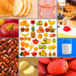Collage of food images — 图库照片