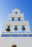Santorini campanario (oia), grecia — Foto de Stock