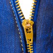 Zipper on clothing — Stock Photo