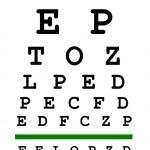 Eyesight test chart — Stock Photo