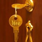 Golden key Idea — Stock Photo