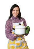 Kitchen worker — Stock Photo