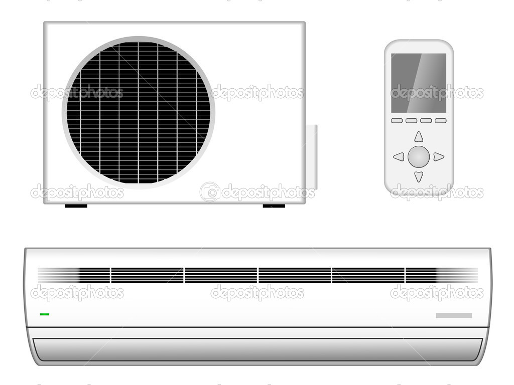 Air conditioner — Stock Vector © tuulijumala #2743580 #1CAF23