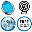 Free Wi-Fi signs - Stock Vector