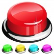 3D red button - Stock Vector