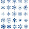 Snowflake shapes. Set 2. - Vettoriali Stock