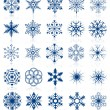 Stock Vector: Snowflake shapes. Set 2.
