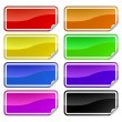 Colorful promotional stickers - Stock Vector