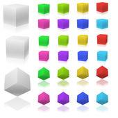 3D cubes — Stock Vector