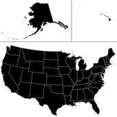 USA shape. — Stock Vector