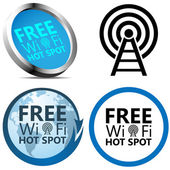 Free Wi-Fi signs — Stock Vector