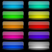 Glowing rectangular buttons — Stock Vector