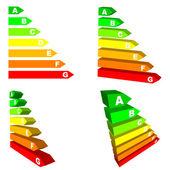 Energy efficiency scales — Stock Vector