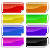 Coloridas pegatinas promocionales — Vector de stock