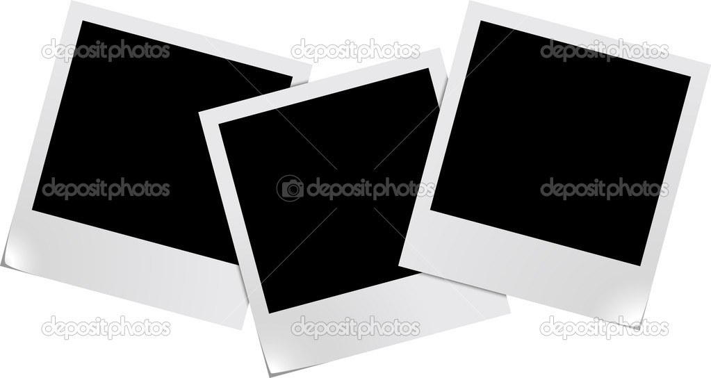 Three blank photo frames isolated on white background — Stock Vector #2762197