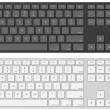 Royalty-Free Stock Vectorielle: Vector keyboard template