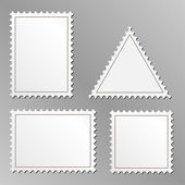 Blank postage stamps — Stock Vector