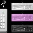 Standard PC keyboard — Stock Vector