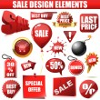 Sale design elements — Stockvectorbeeld