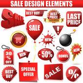 Sprzedaż elementów projektu — Wektor stockowy