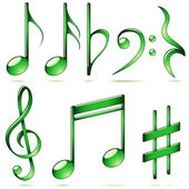 Music notation icons — Stock Vector