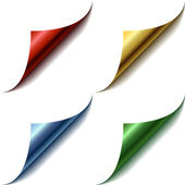 Vier ecken der farbe-seite — Stockvektor