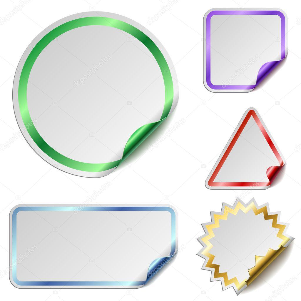 Blank stickers — Stock Vector © tuulijumala #2833017
