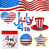 July 4th symbols. — Wektor stockowy