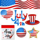 July 4th symbols. — Stock Vector