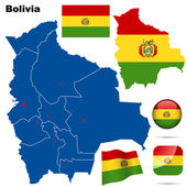 Bolivia vector set. — Stock Vector