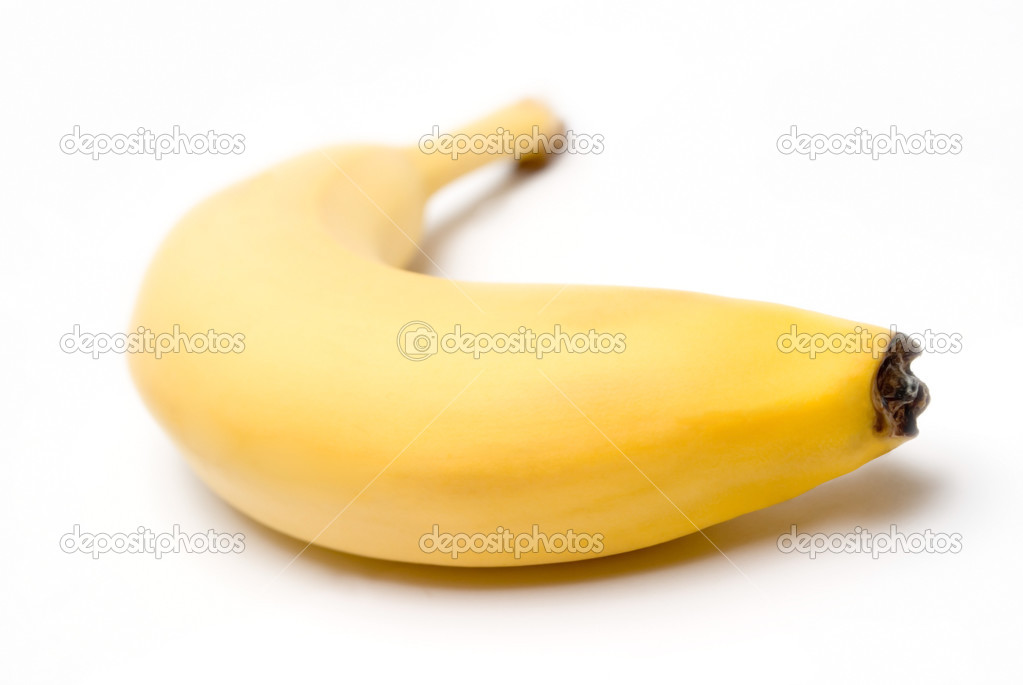 Ripe banana on a white background  Stock Photo #2894495