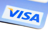 Credit card VISA — Stock Photo