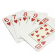 Straight Flush сasino playing cards — Stock Photo