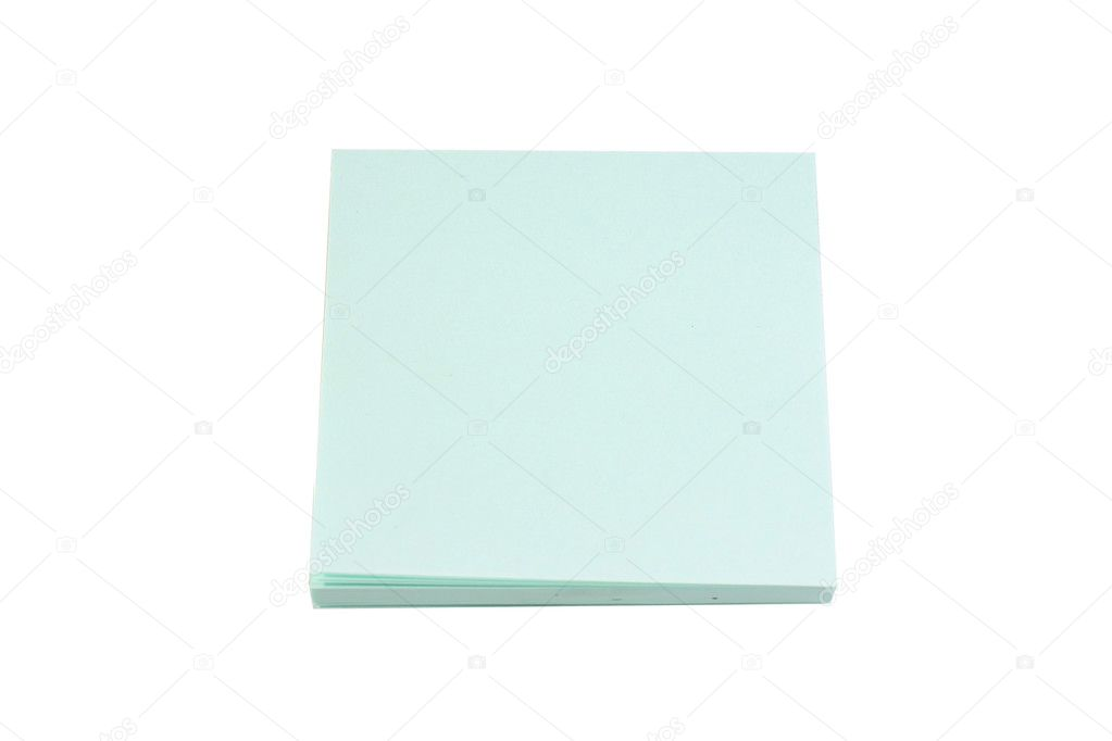 Blue sticky note on white background — Stock Photo #3179095