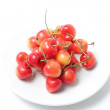 Cherries in plate — Stock Photo