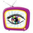 Television and eye — Stock Photo