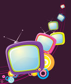 Vector retro televisions .Grunge abstract TV — Stock Photo
