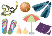 Vector things for summer holiday — Stock Photo