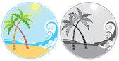 Tropik ada simgeler — Stok fotoğraf